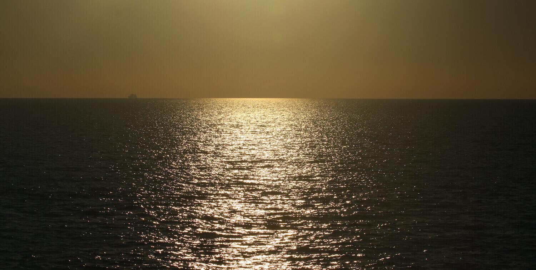 Sea at sunset.
