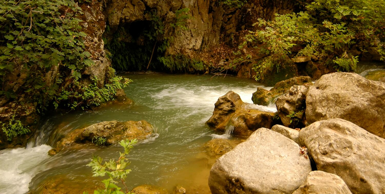 Meandering river.