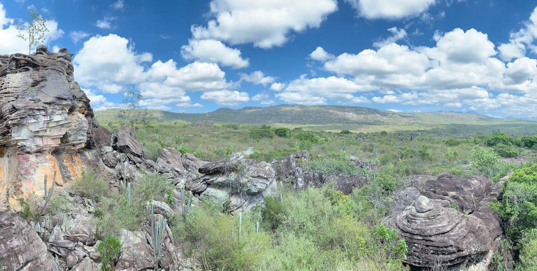 Rocky landscape, blue sky