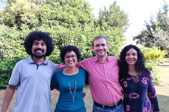 The 4 members of the Cerrado Regional Implementation Team stand together.