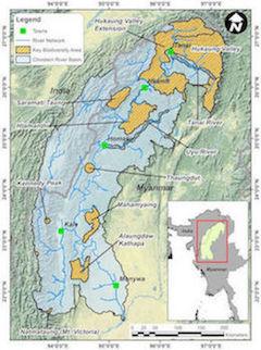 Map of Chindwin River Basin.