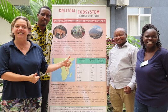 Members of the regional implementation team for the Eastern Afromontane Biodiversity Hotspot.