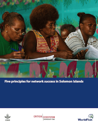 "Publication titled ""Five principles for network success in Solomon Islands"""
