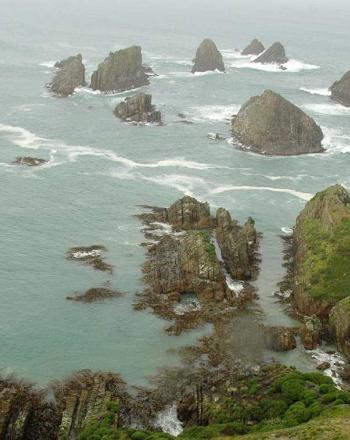 View of coastline.
