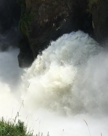 Turbulent waterfall.
