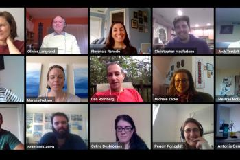 15 CEPF staffers on Go-To-Meeting from home.